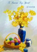 Easter Card-Daffodils And Eggs